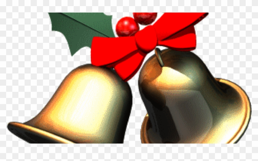 Transparent Bell Clipart - Christmas Bows With Bells, HD Png Download - vhv