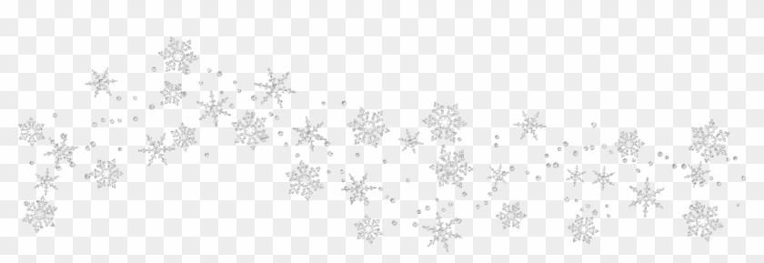 Snowflake Clip Art - Transparent Snowflake Border Clipart, HD Png Download  - kindpng