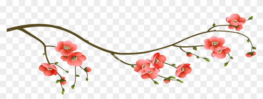 Cherry Blossom Branch - Branch Transparent Png Cherry Blossoms Clipart #243031