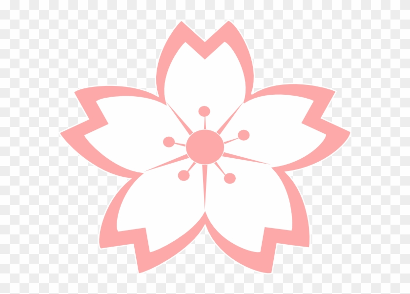 Cherry Blossom Vector, Japanese Party, Happy Images, - Sakura Flower Drawing Png Clipart #243377