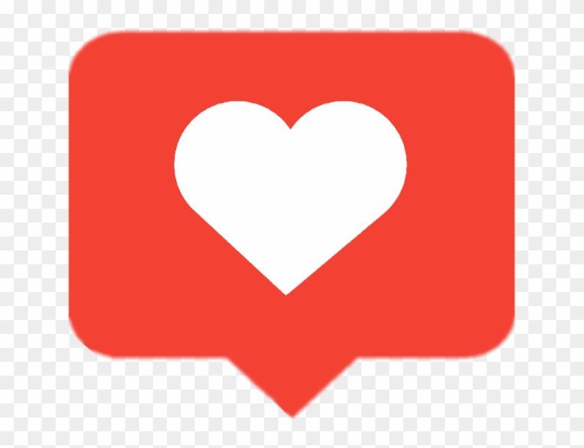 Instagram Heart Png - Like Button Instagram Png Clipart #244088