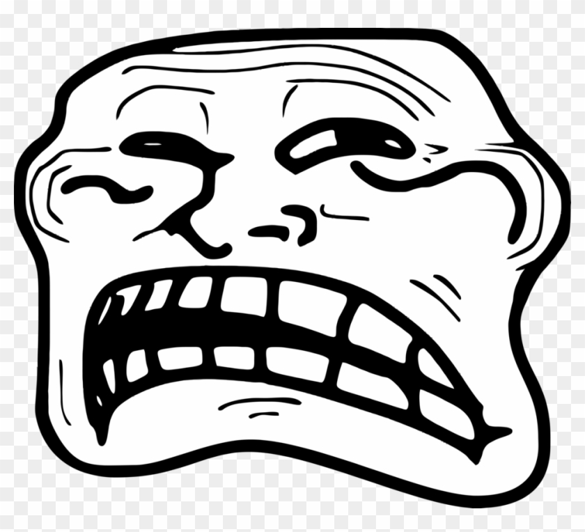 Troll Face Rage Png - Rage Comics Troll Face Clipart #244765