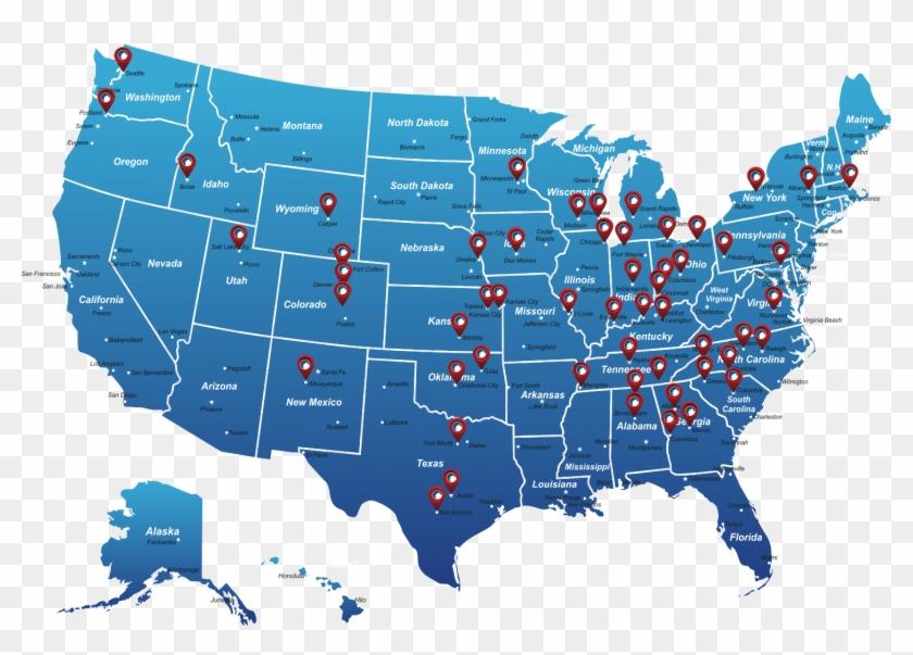 Champion Locations Map - Us Senate Map 2019 Clipart #247494