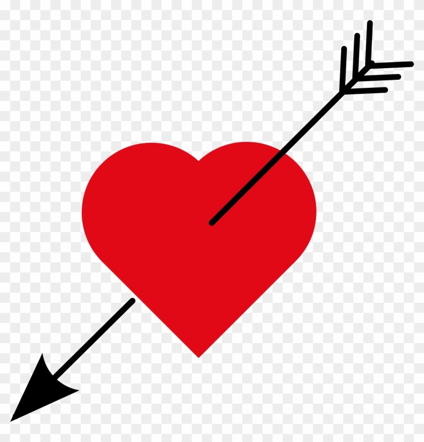 2000 X 1991 8 - Love Heart With Arrow Clipart #248332
