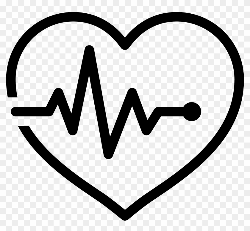 Heart With Pulse Icon - Pulse Icon Clipart #248406