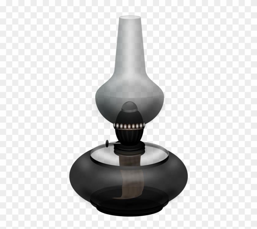 Oil Lamp Kerosene Lamp Electric Light - Big Oil Lamp Clipart Black And White - Png Download #248964