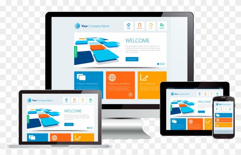 Mobile Friendly Web Development - Responsive Web Design Png Clipart #249368