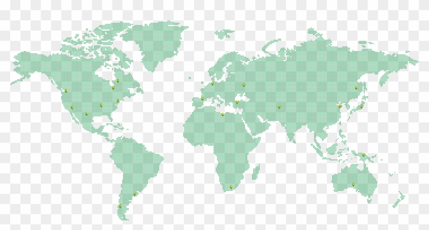 Dotted Background Map - World Map Color Gradient Clipart #249827