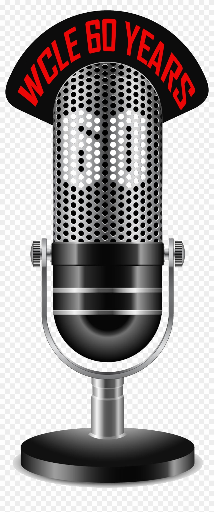 Wcle Th Anniversary Of Radio Wclelogo - Microphone On The Air Clipart #2406577