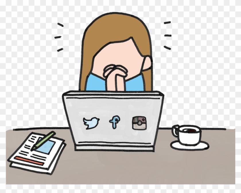 Social, Social Networks, Social Network Service - Social Media Pressure Cartoon Clipart #2408498