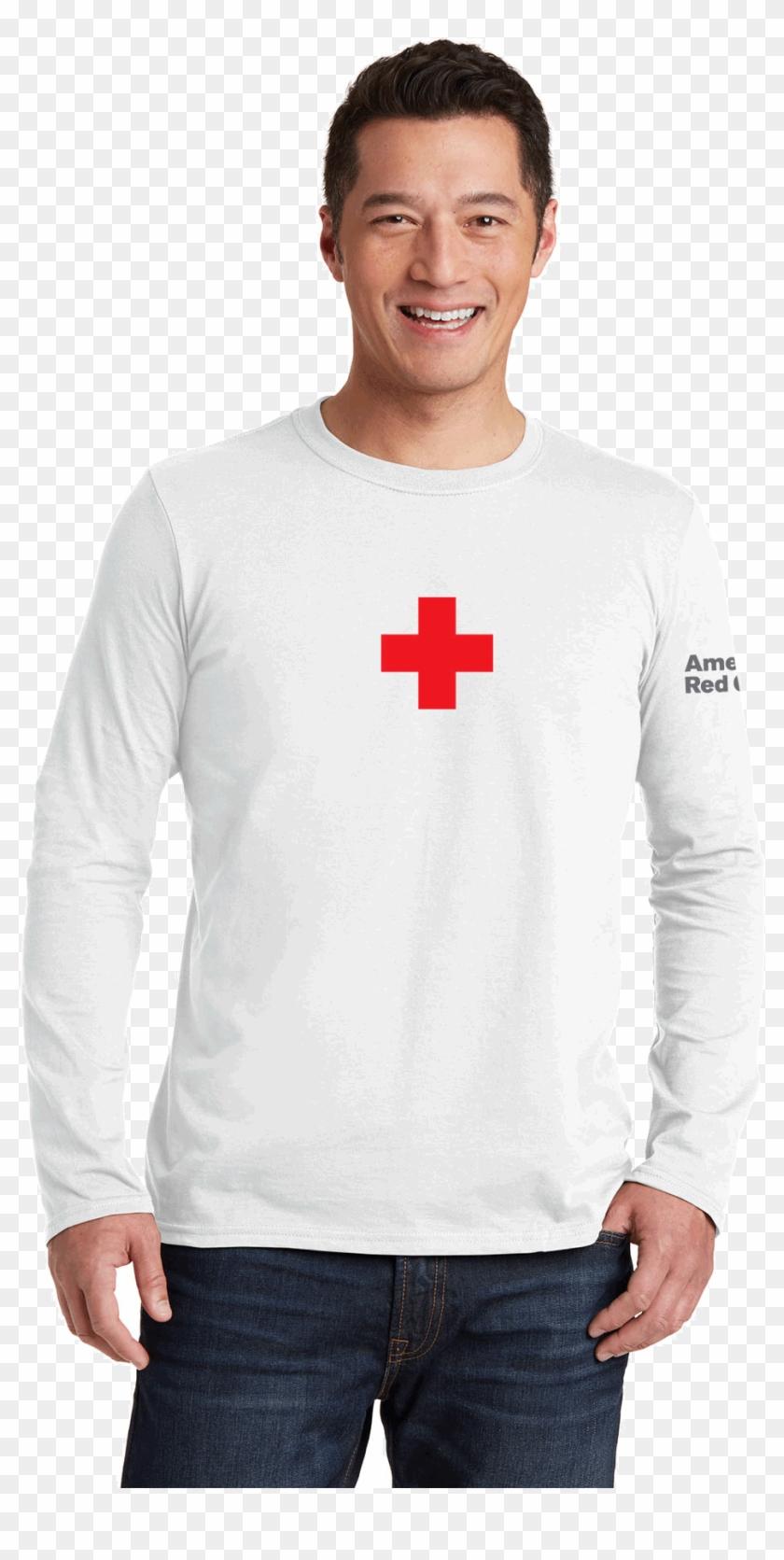 Red Cross Long Sleeve T Shirt Clipart #2413131