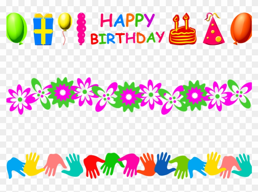 This Graphics Is Page Border About Birthdays, Boundaries, - Free Birthday Border Design Clipart #2414241