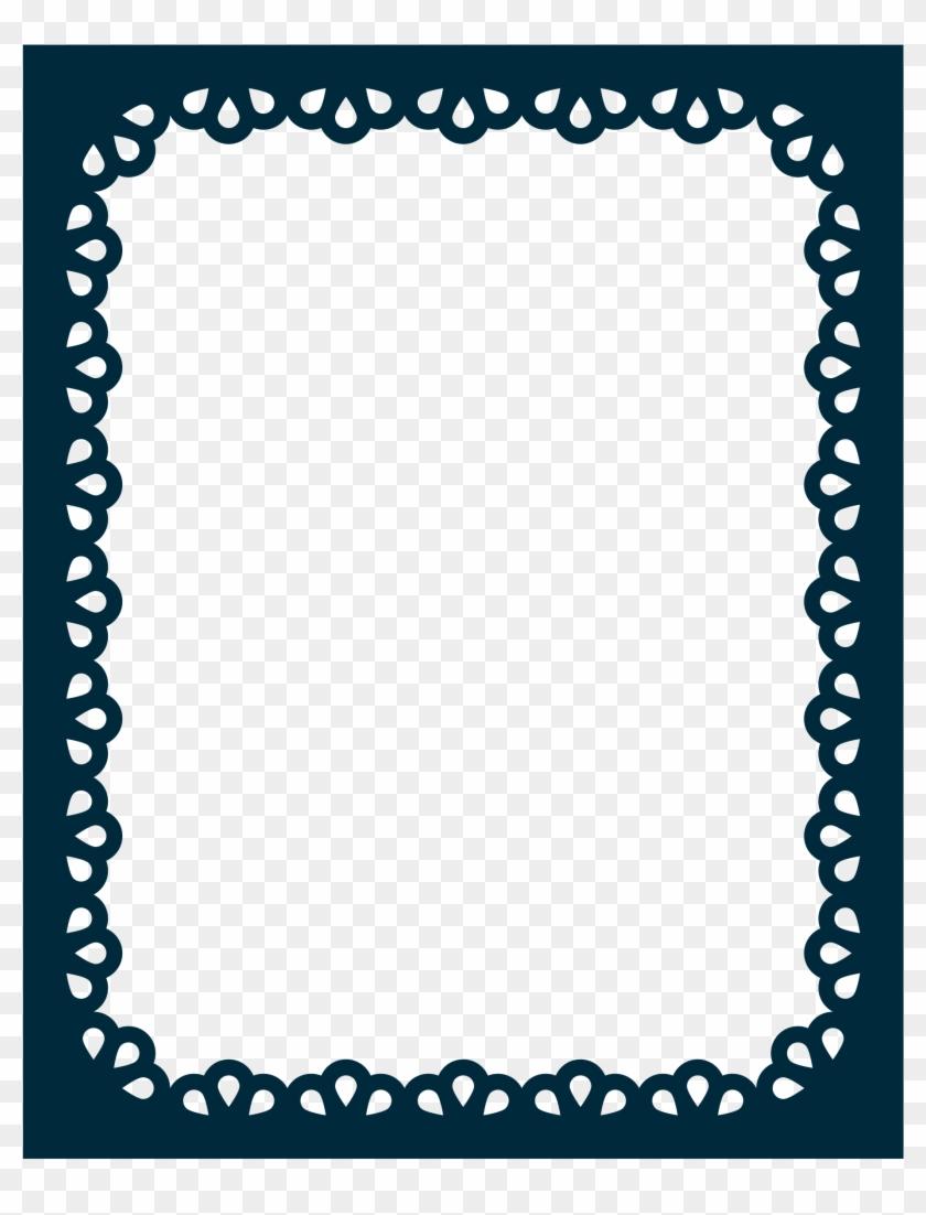 Scalloped Border Png - 1 Inch Border Design Clipart #2414461