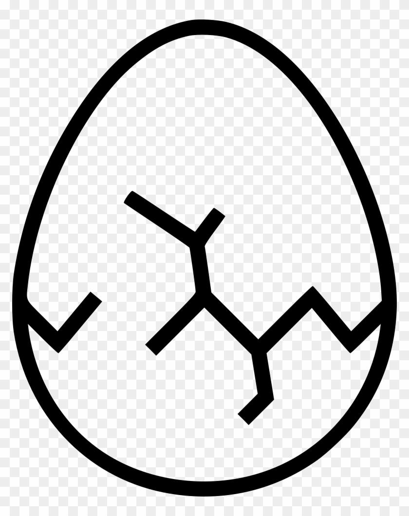 Cracks Texture Png - Cracked Egg Crack Clipart Black And White Transparent Png@pikpng.com