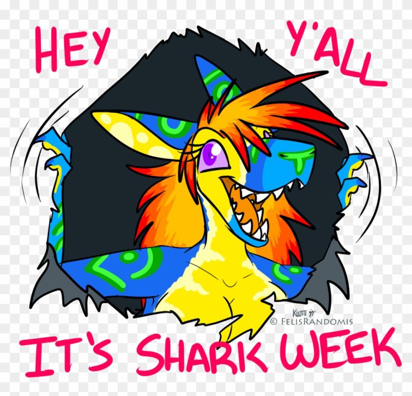 Shark Week 2k18[closed] - Cartoon Clipart #2422322