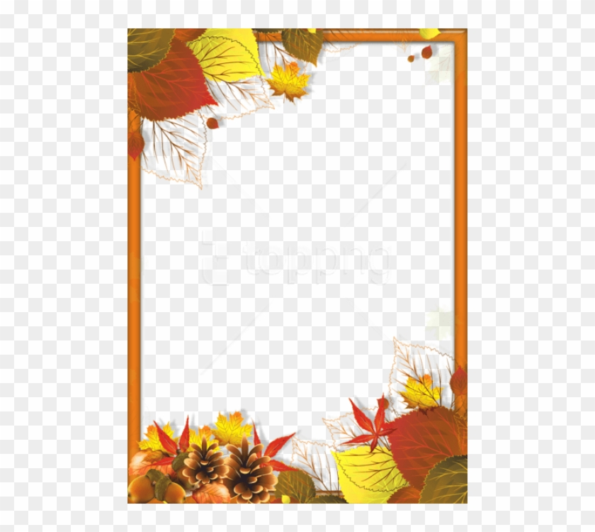 Free Png Transparent Fall Png Frame With Leaves Background - Autumn Page Borders Microsoft Word Clipart #2423283