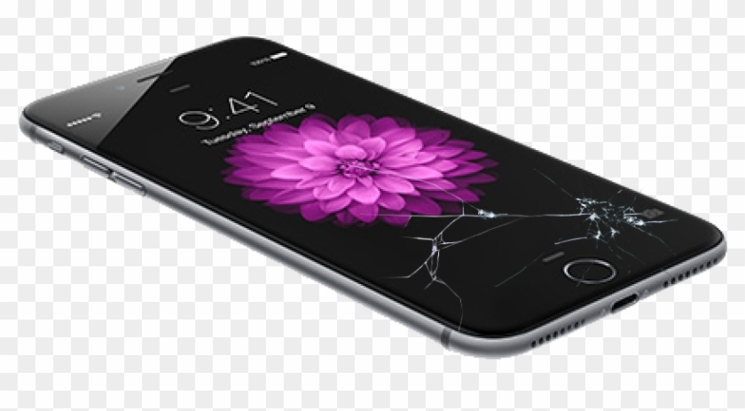 Broken Phone - Cracked Iphone Screen Png Clipart@pikpng.com