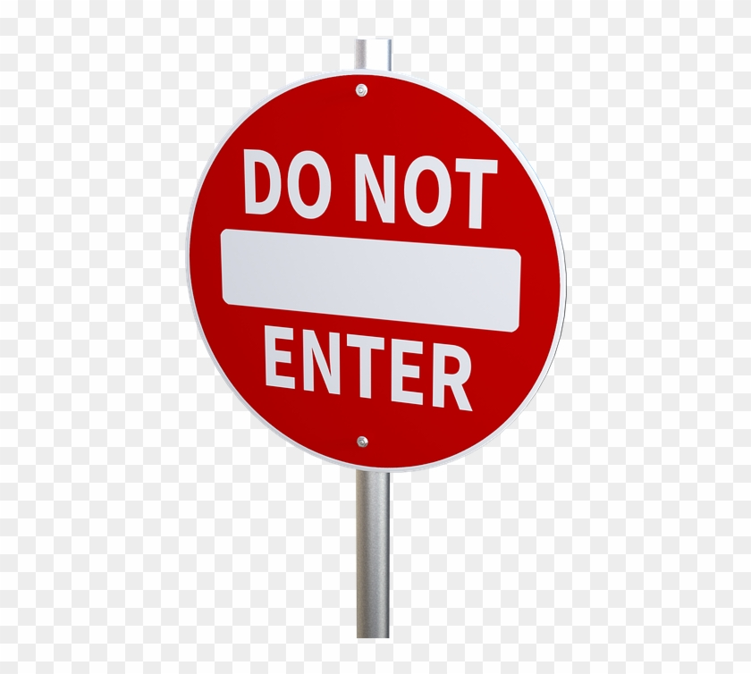 No Entry, Traffic Restriction, Prohibited, Roadsign - Not Enter Sign Clipart #2424268