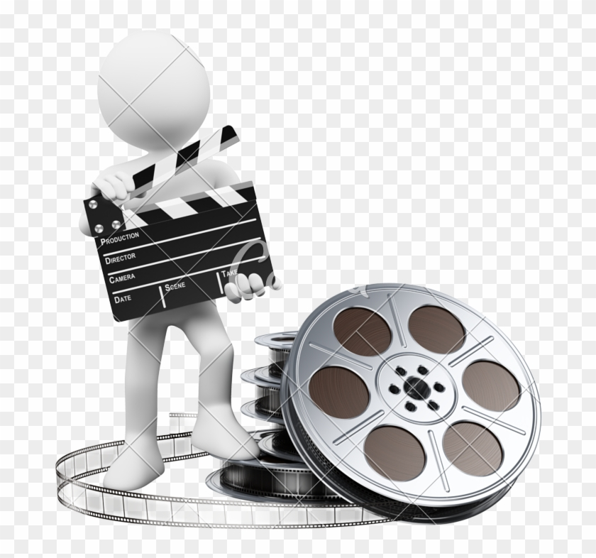 D White People Clapper Board And Audiovisuel Clipart