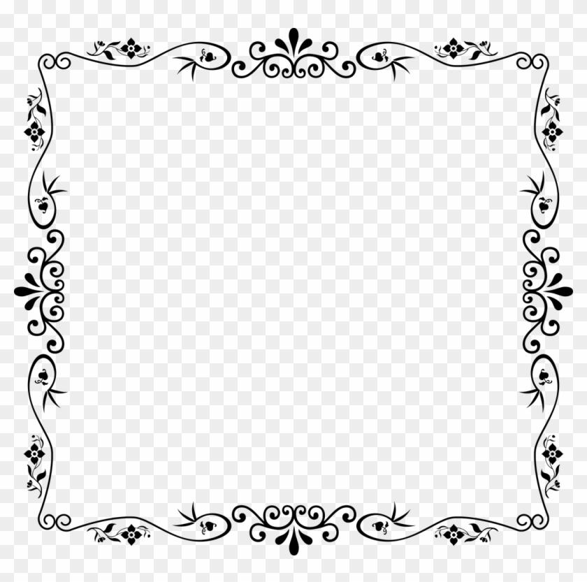 Frame Design Black Border Clipart #2429056