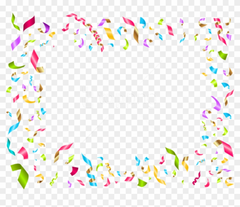 Birthday Confetti Png - Confetti Birthday Party Clip Art Transparent Png #2438661