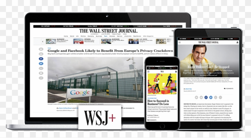 Stay Informed Wherever You Are With Our Complete Suite - Wall Street Journal Clipart #2444784