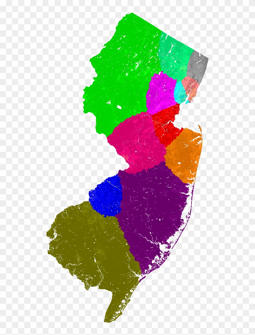 New Jersey Congress Congressional District Map, Current - New Jersey Blank Map Clipart #2445135