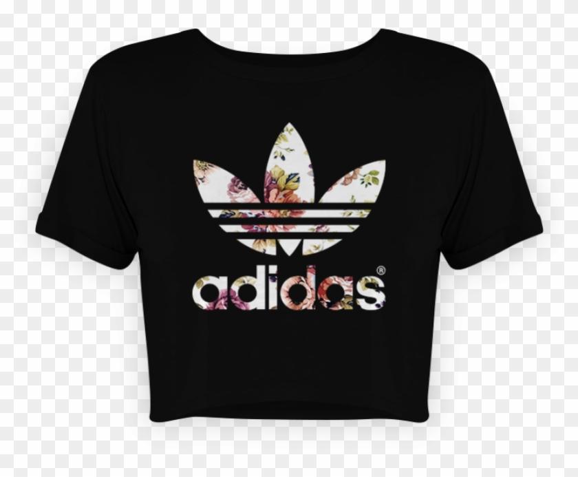 adidas shirt crop top