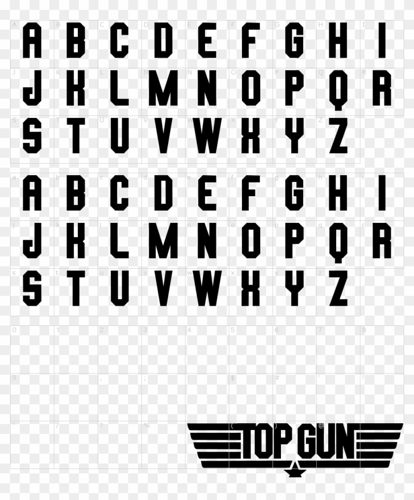 Top Gun Font - Top Gun Font Transparent, HD Png Download #2448078