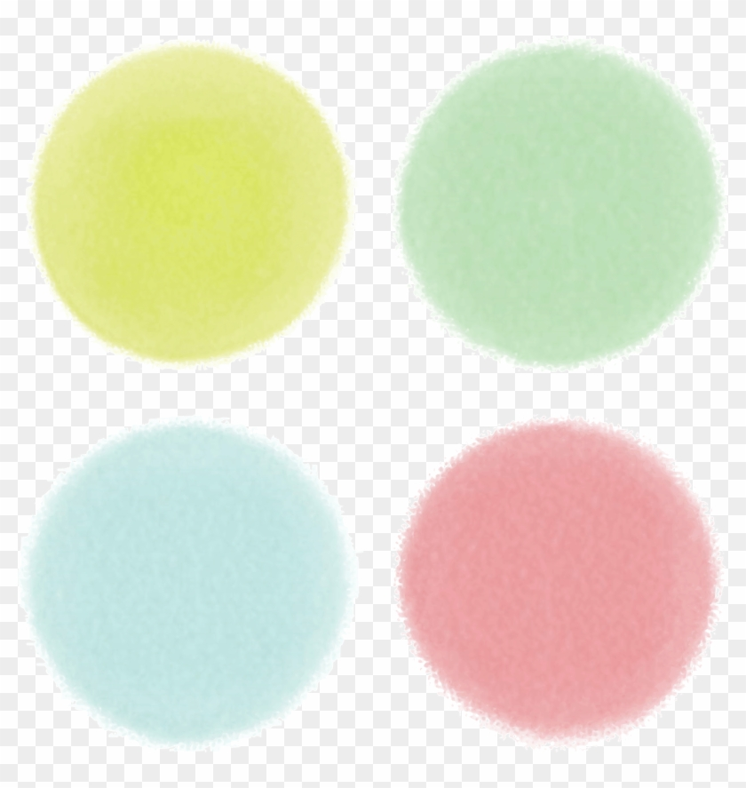 Watercolor Background Circle Png Image - Mac Eye Shadow X 9 Dusky Rose Clipart #2451127