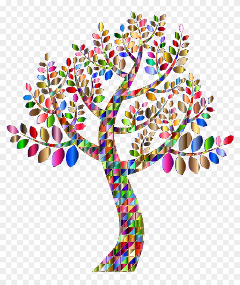 This Free Icons Png Design Of Complex Prismatic Tree - Tree Design No Background Clipart #2458100