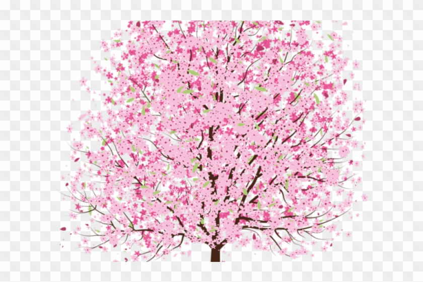 Cherry Tree Clipart Transparent - Cherry Blossom Tree Transparent - Png Download #2460863