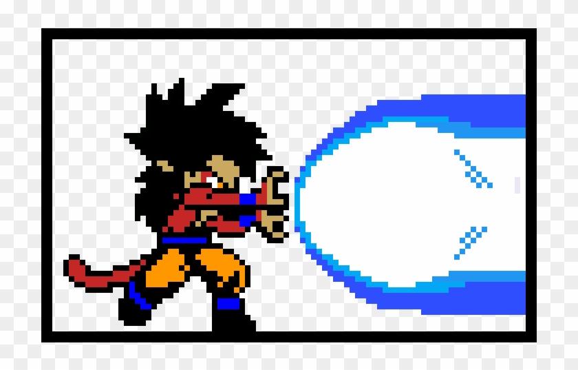 Ssj4 Goku Kamehameha - Cuadricula Dibujos De Dragon Ball Clipart #2465098