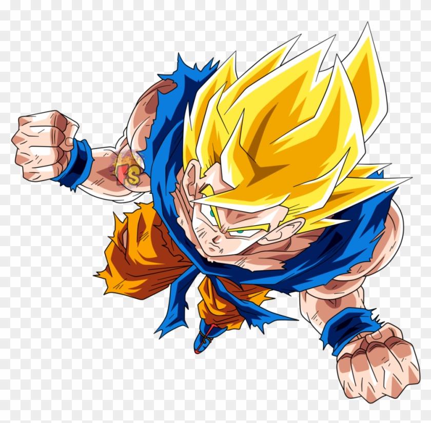 No Caption Provided - Goku Ssj Dokkan Battle Png Clipart #2465244
