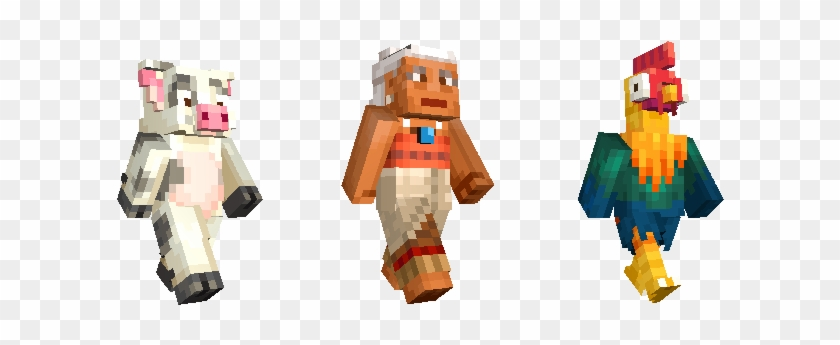 Also Arriving On New Versions Of Minecraft And Nintendo - Minecraft Moana Skin Pack Clipart #2465640