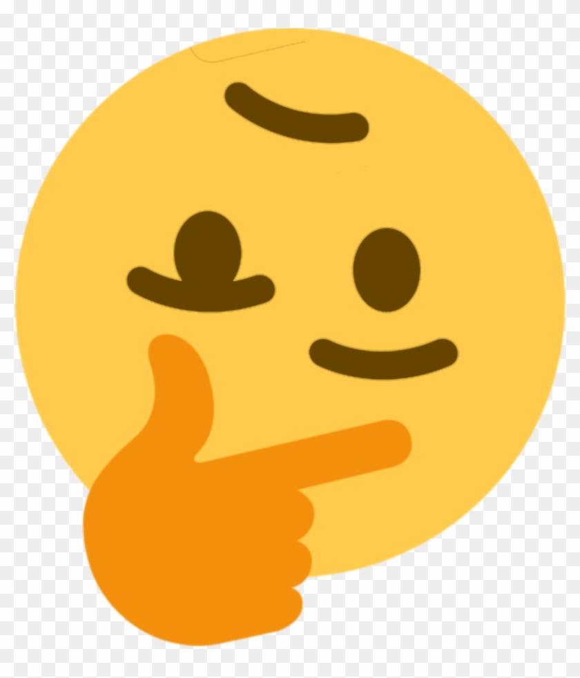 Thinking Face Emoji Meme , Png Download - Discord Thinking Emoji Clipart #2467583