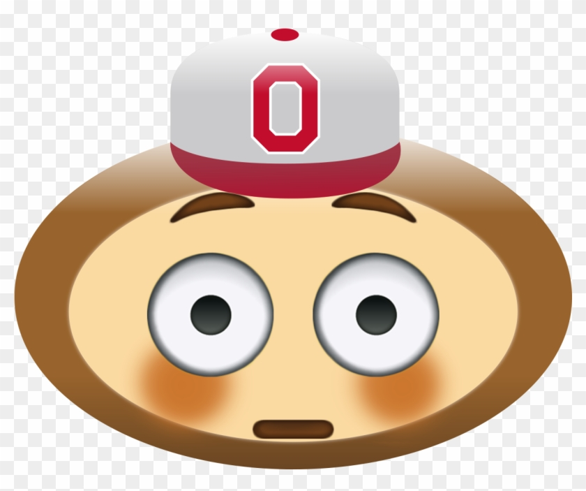 Brutus Emoji Buckeyes Football, Ohio State Football, - Crying Ohio State Buckeye Clipart #2467702