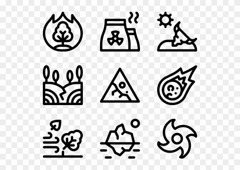 Natural Disaster - Hand Drawn Icon Png Clipart #2471390