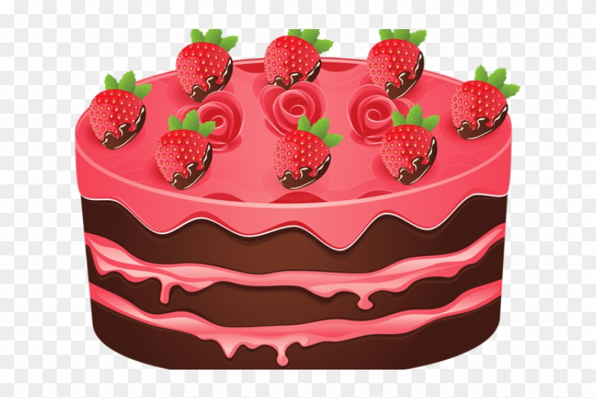 Dessert Clipart Strawberry Shortcake - Cake Without Candles Art - Png Download #2471788