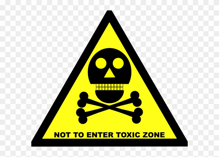 Do Not Enter Toxic Zone Sign Svg Clip Arts 600 X 524 - Toxic Do Not Enter Sign - Png Download #2473468