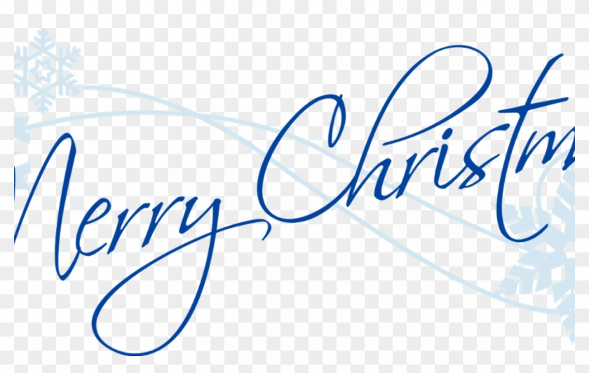 Merry Christmas And Happy New Year Signature With A - Merry Christmas Clipart #2481625