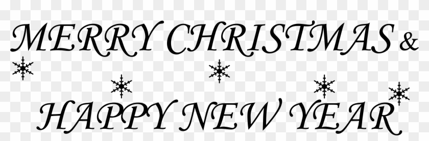 Merry Christmas And Happy New - Merry Christmas And Happy New Year Signature Clipart #2481756