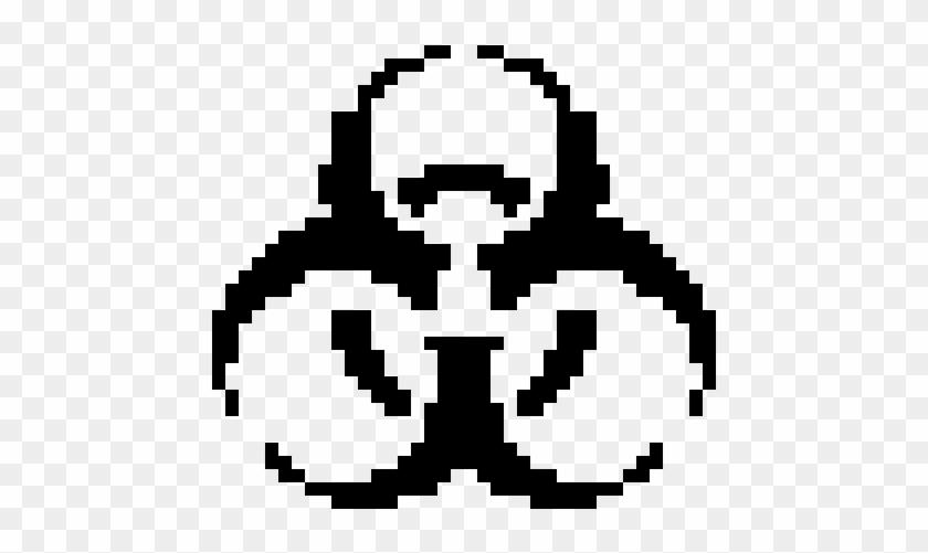 Radioactive Symbol - Biohazard Logo Pixel Art Clipart #2483773