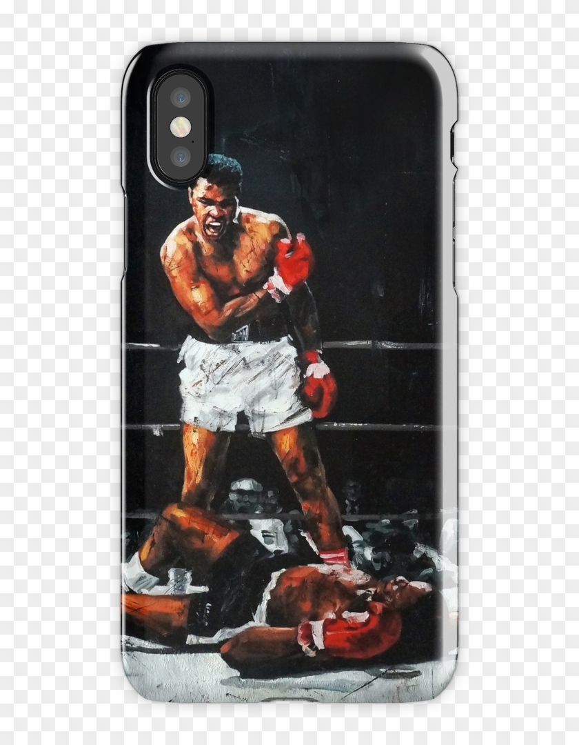 Muhammad Ali Knocks Out Sonny Liston Iphone X Snap - Boxing Iphone 8 Case Clipart #2487988