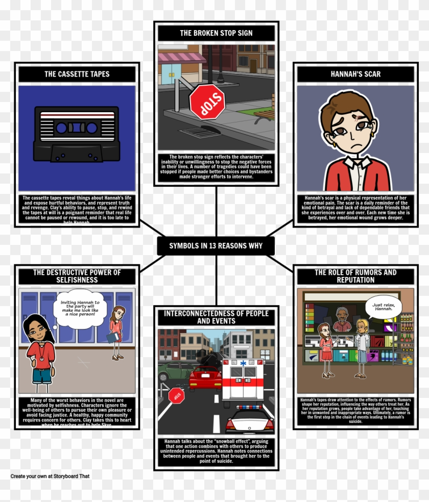 Thirteen Reasons Summary Activities Reasons Book Png - Symbolism In 13 Reasons Clipart #2491021