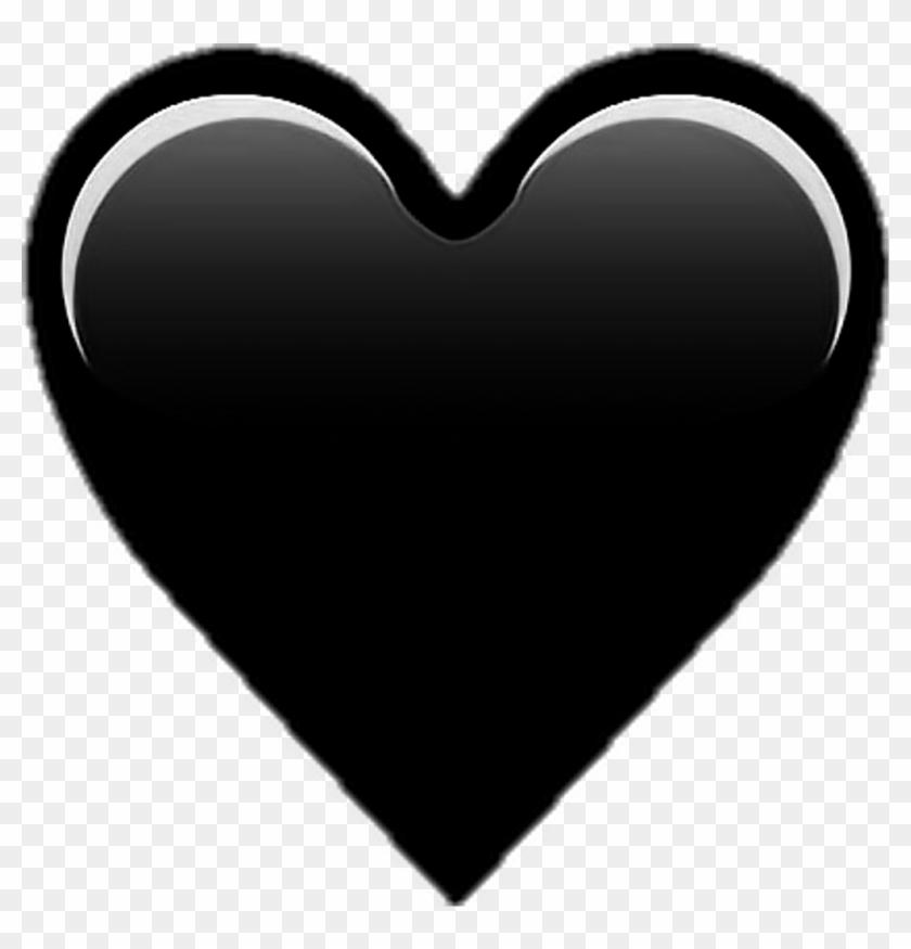 Heart Emoji Blackheart Black - Iphone Heart Emoji Png Clipart #2497367
