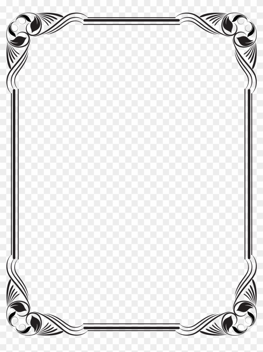 Stencil Borders For Paper, Borders And Frames, Frame - Frame Design * .png Clipart #250234