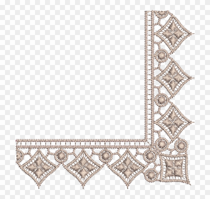 Free Icons Png - Design For Embroidery Border Lace Clipart #250514