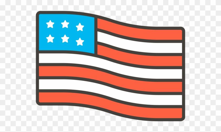 United States Flag Emoji - Vector Graphics Clipart #256281
