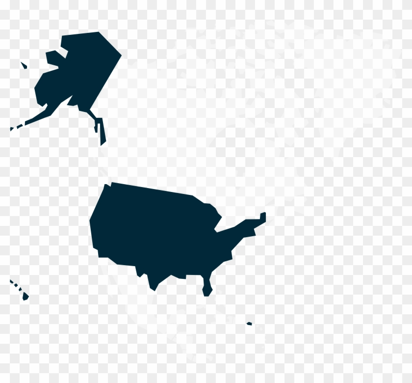 United States - Usa North America West Coast Map Clipart #257350